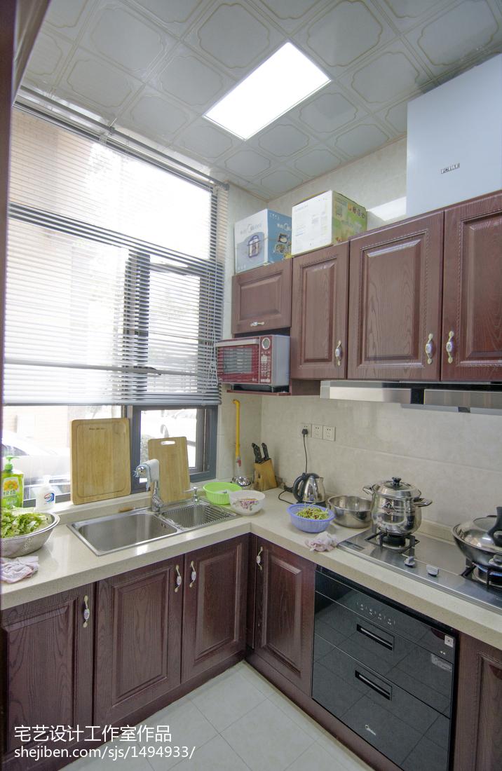热门142平米中式别墅厨房装饰图片欣赏