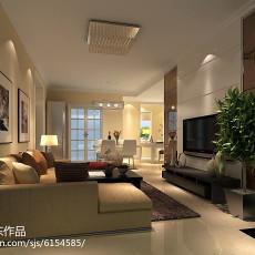 精选面积78平简约二居客厅装饰图