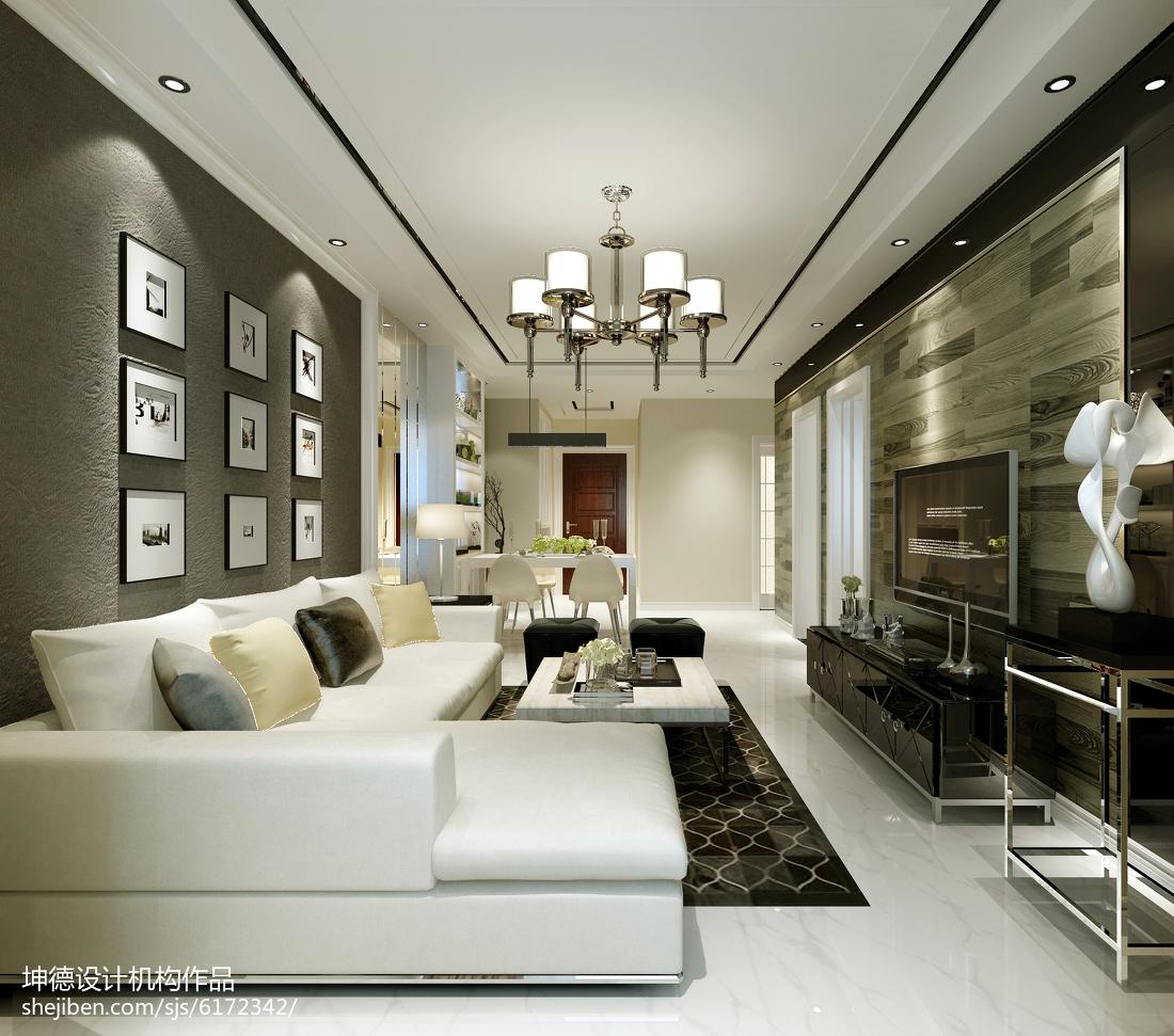 201880平米二居客厅简约装饰图片欣赏