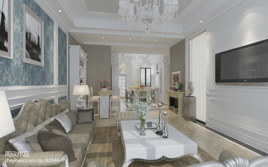 热门面积98平简约三居客厅装修欣赏图
