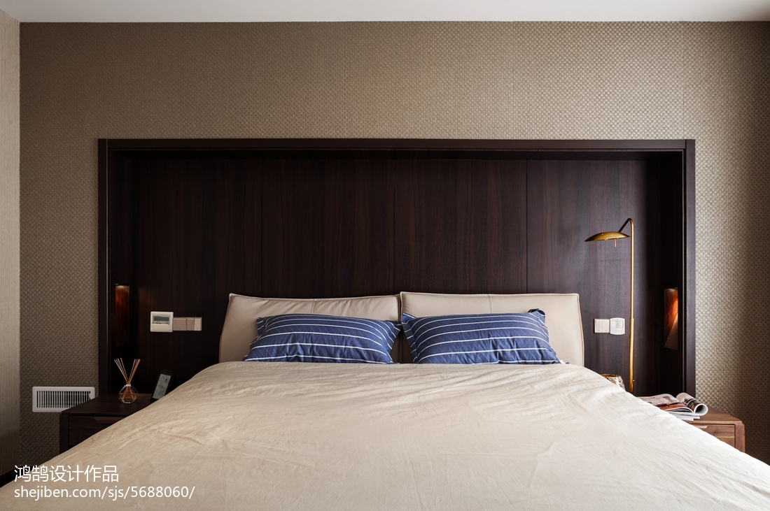 精选面积98平现代三居卧室效果图片