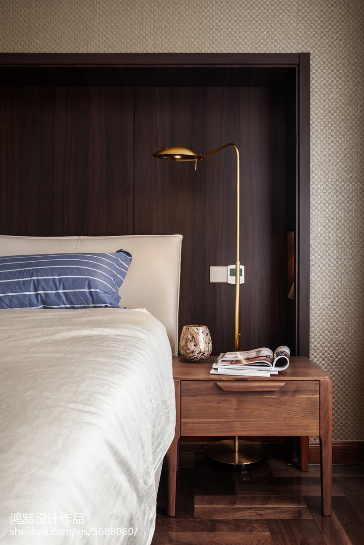 2018精選面積90平現代三居臥室裝修設計效果圖片