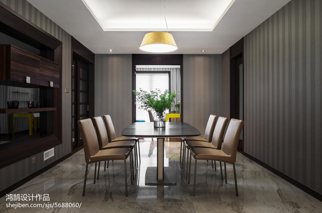 热门101平米三居餐厅现代效果图片欣赏