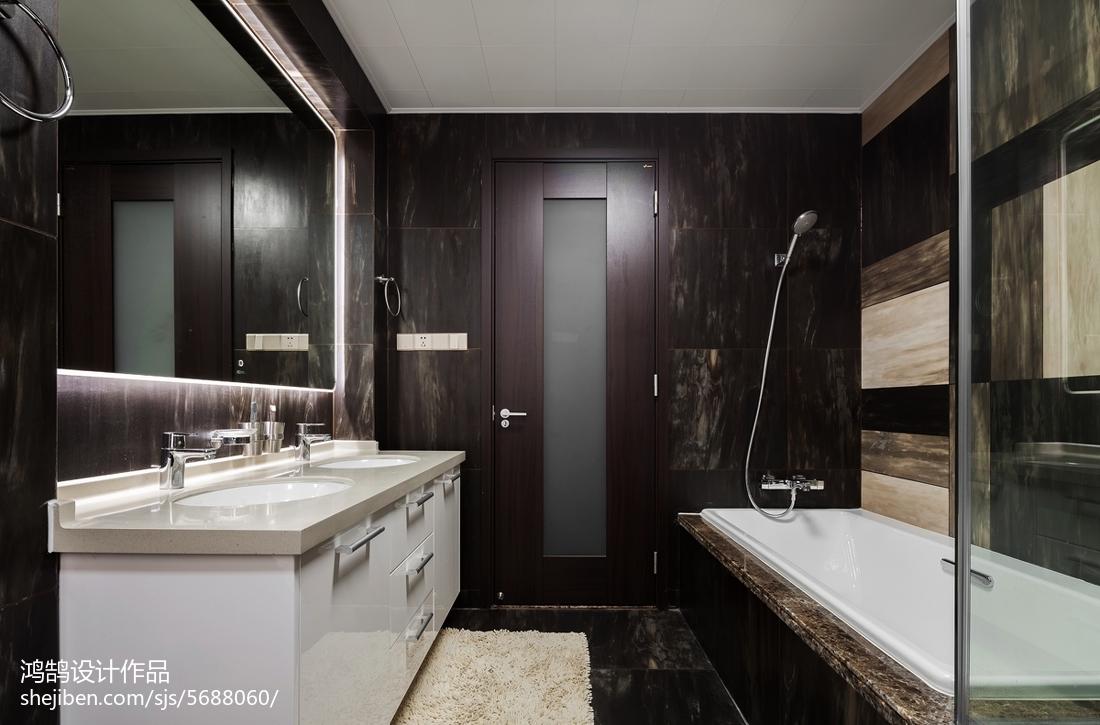 201891平米三居卫生间现代装修设计效果图片