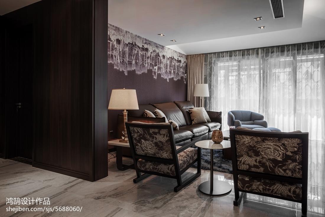 热门99平米三居客厅现代装修欣赏图
