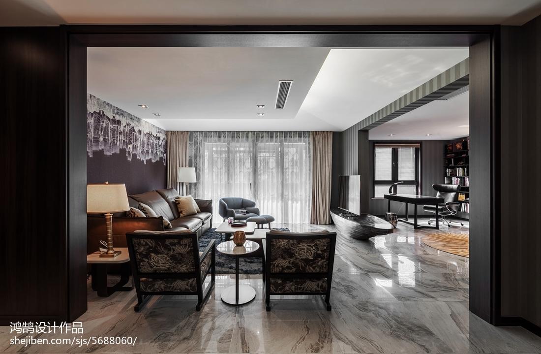 悠雅191平现代三居客厅装修图
