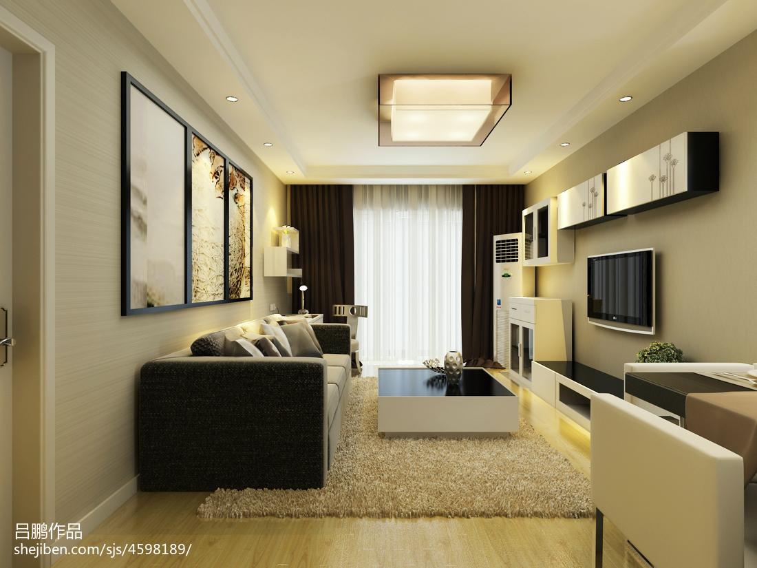 精选面积88平简约二居客厅实景图