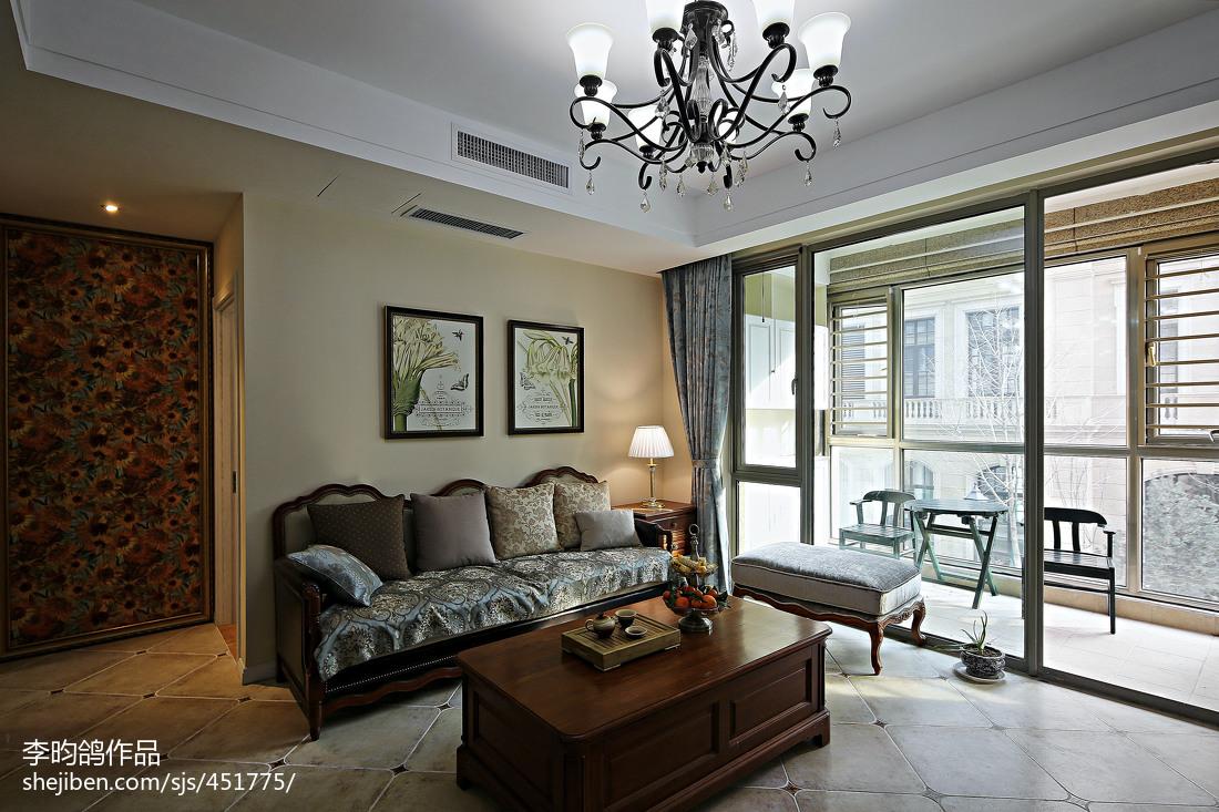 精美100平方三居客厅美式装修图