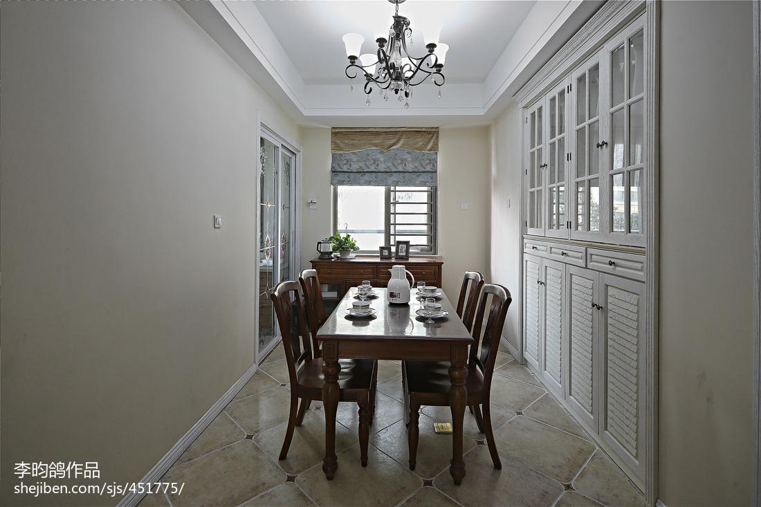 精选108平方三居餐厅美式效果图片欣赏