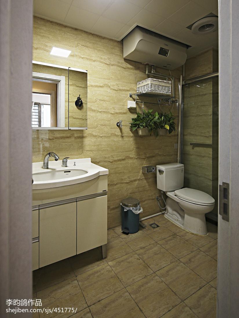 精美三居卫生间美式装修图片欣赏