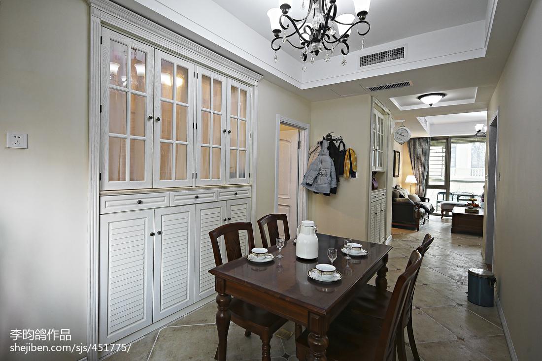 精选95平米三居餐厅美式装修效果图片欣赏