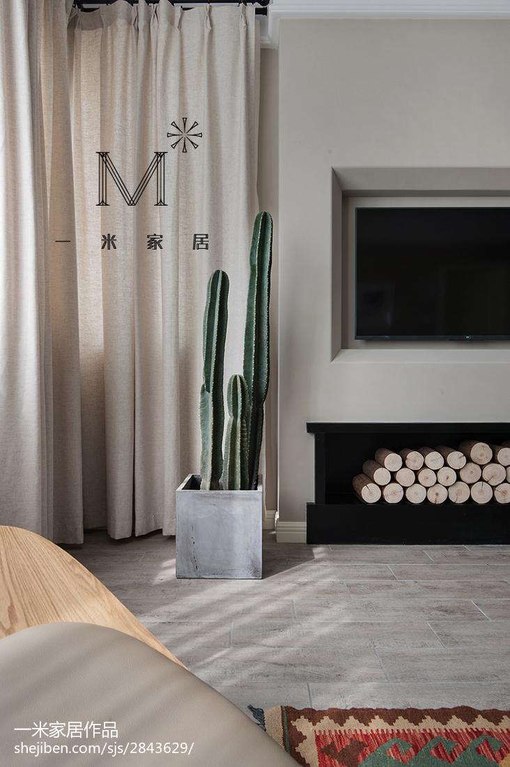 201888平米二居客厅北欧装修图片大全