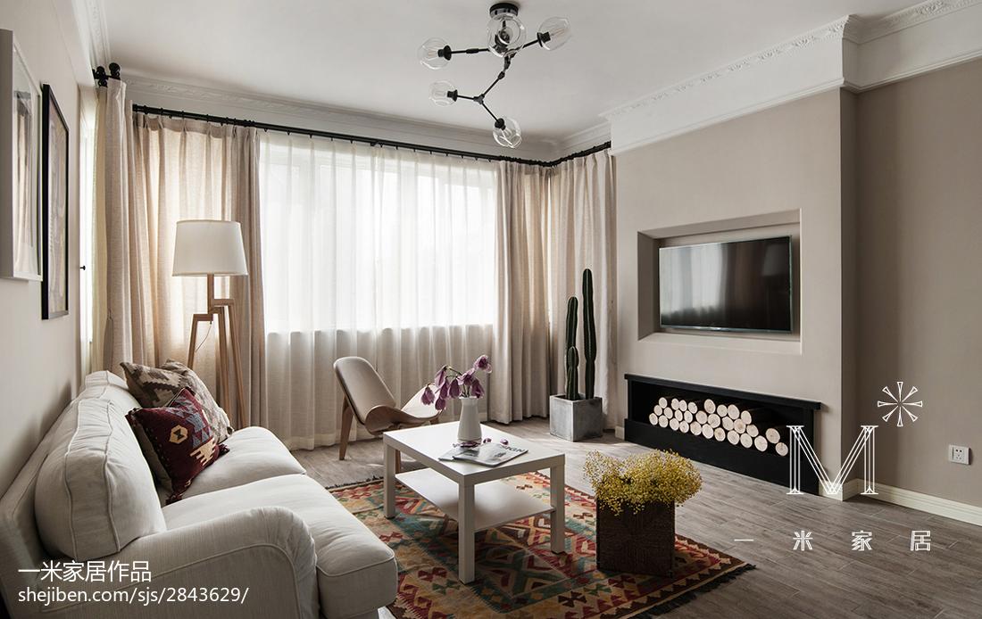 精美86平方二居客厅北欧装修实景图片大全