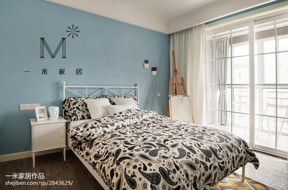 精选77平米二居卧室北欧设计效果图