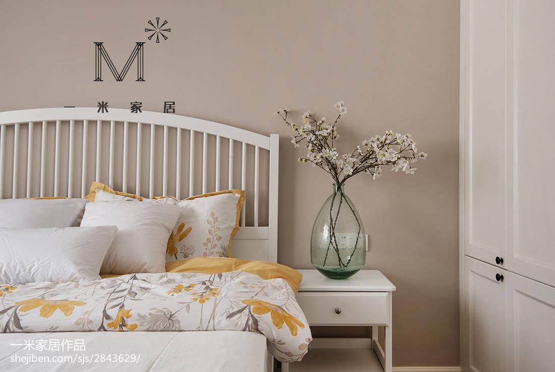 2018面积75平北欧二居卧室装修设计效果图片欣赏