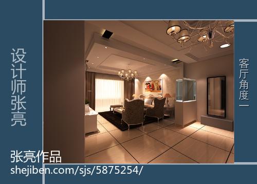 70平米欧式小户型客厅装修效果图片大全