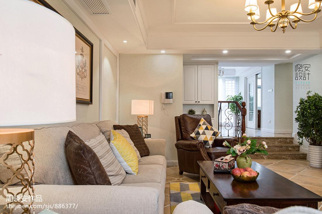 精美70平美式三居客厅设计图