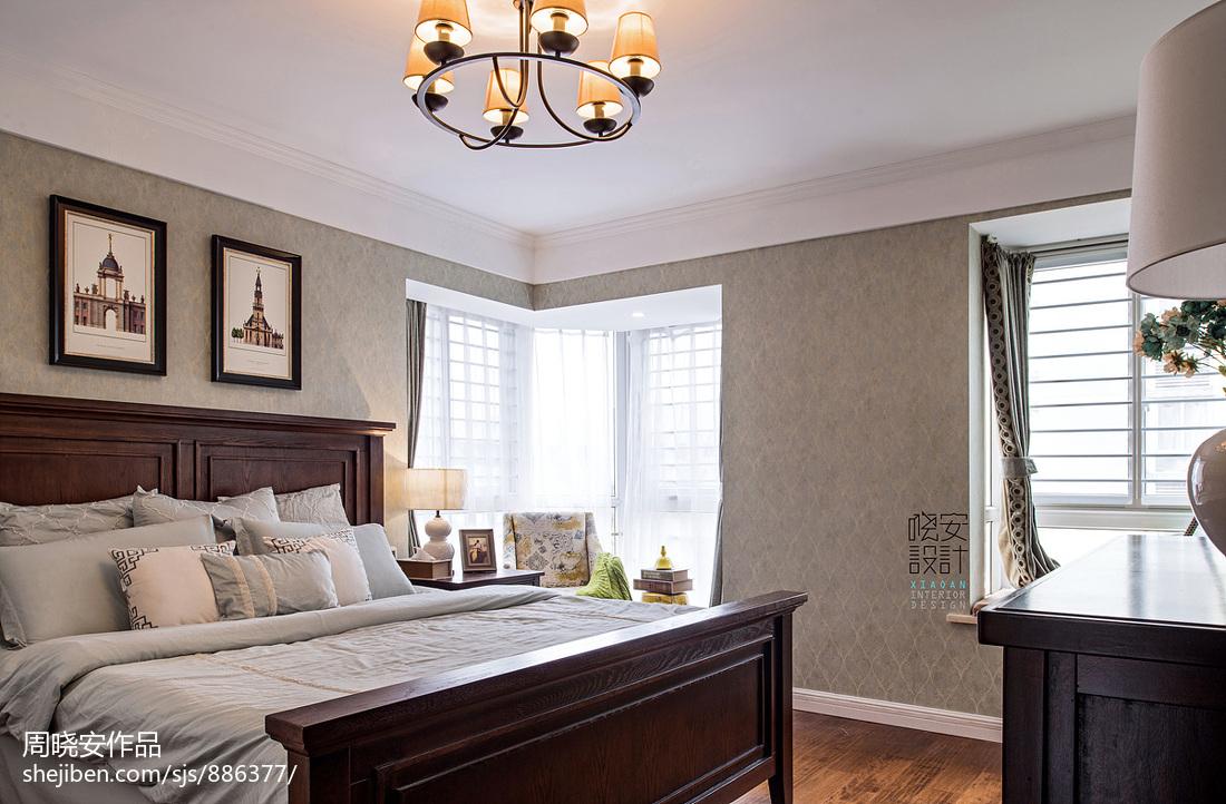 质朴90平美式三居卧室图片欣赏