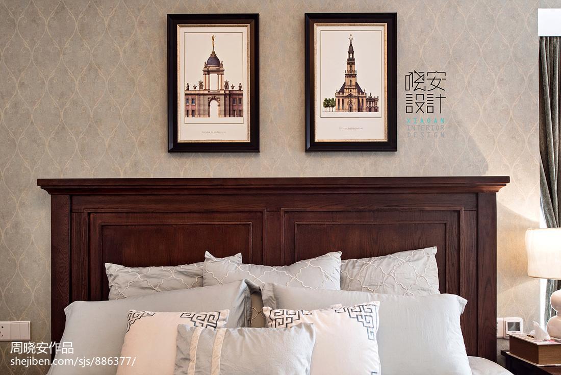 精致97平美式三居卧室装饰美图