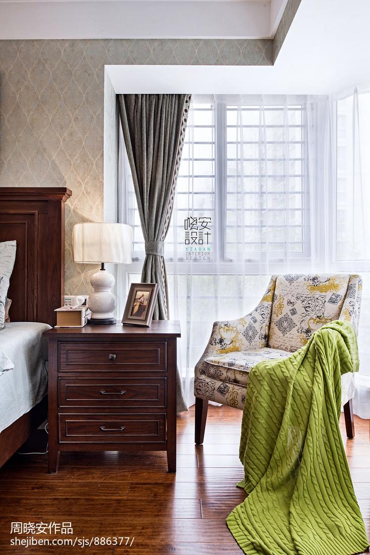 精美122平美式三居卧室实拍图
