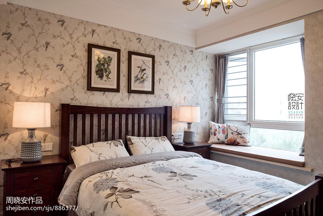 质朴71平美式三居卧室装修设计图