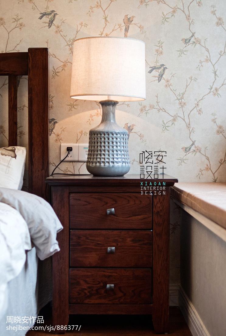 华丽96平美式三居卧室图片欣赏