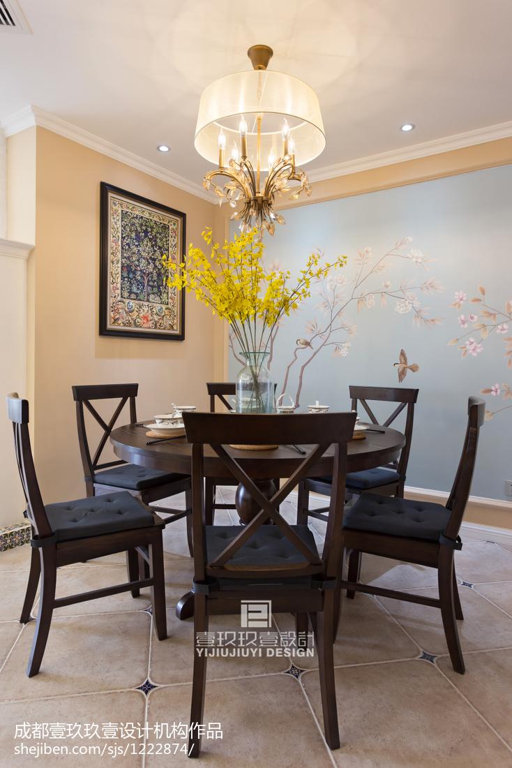 热门大小103平美式三居餐厅装饰图片欣赏