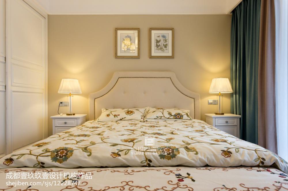 热门90平米三居卧室美式效果图片欣赏