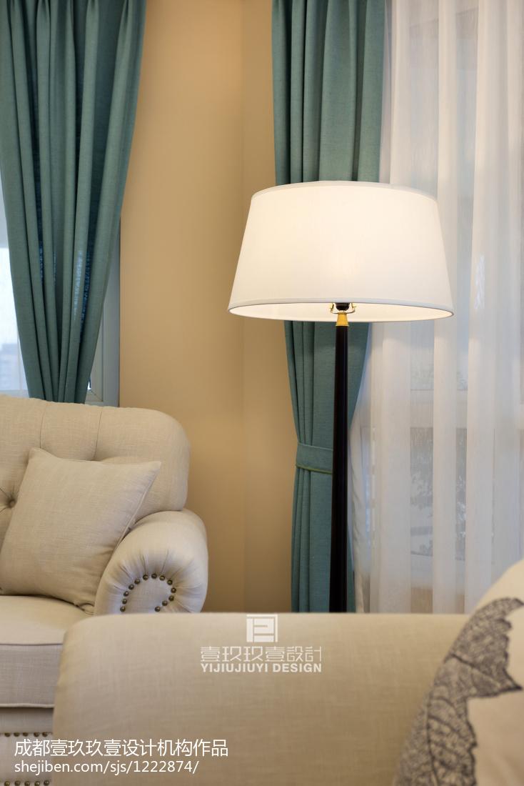 2018精选96平米三居客厅美式装饰图片