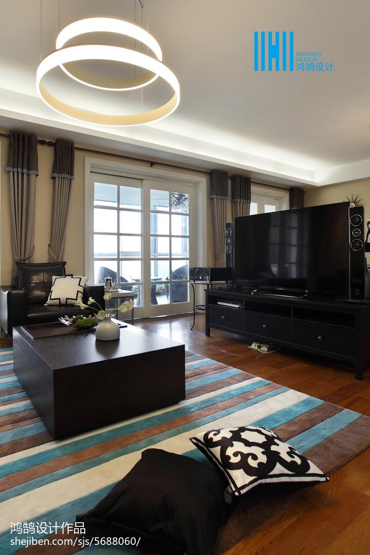 2018面積100平簡約三居客廳裝修設計效果圖片