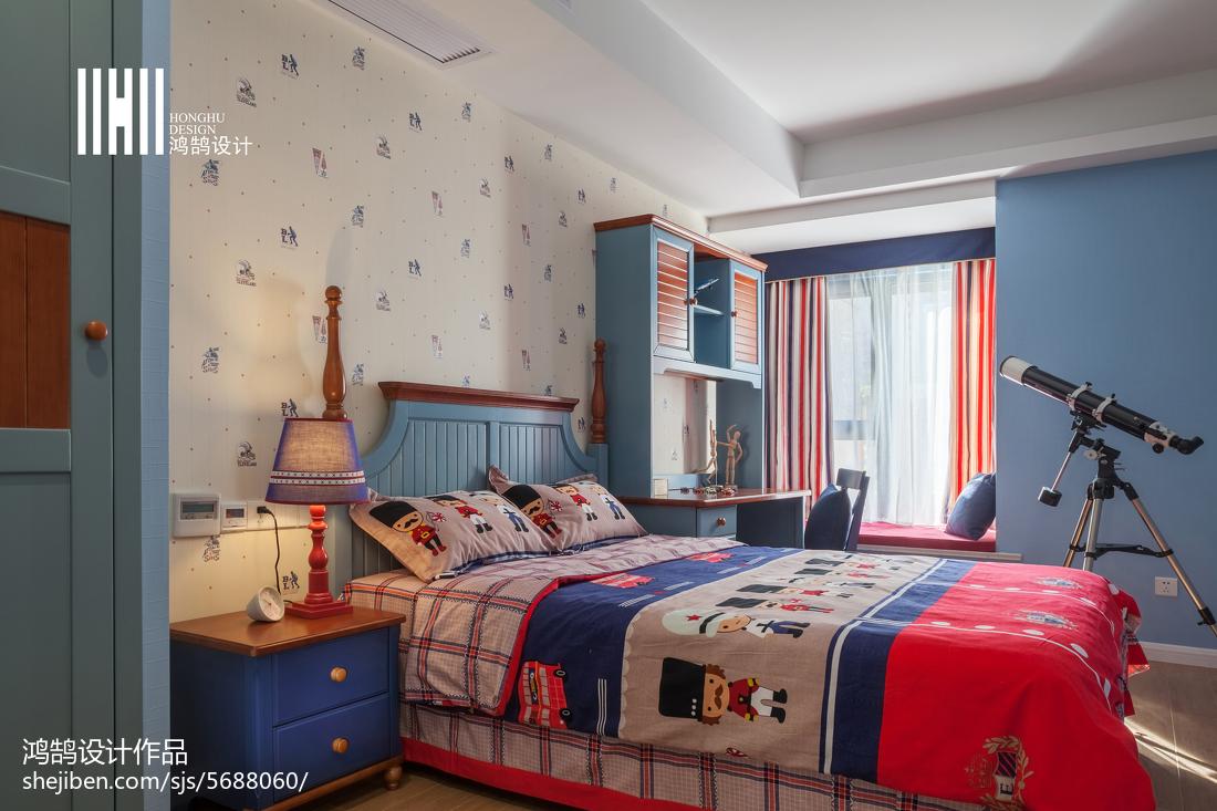 面積101平簡約三居兒童房裝修欣賞圖