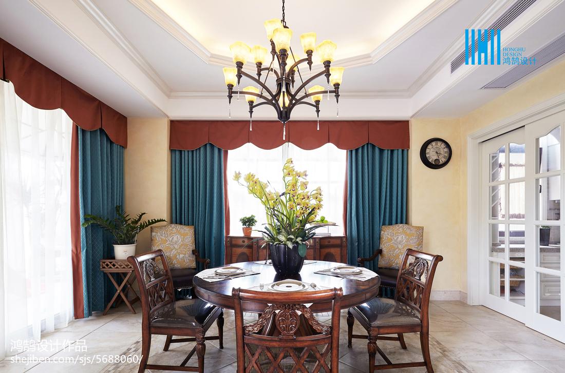 熱門135平方混搭別墅餐廳裝飾圖片