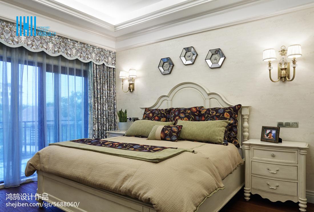面積128平別墅臥室混搭裝修實景圖