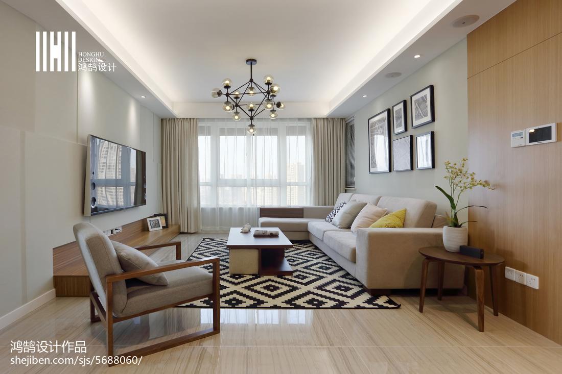 精选95平米三居客厅简约装饰图片大全