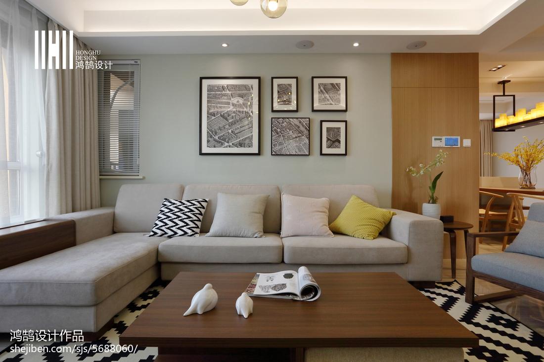 热门面积108平简约三居客厅装饰图片欣赏
