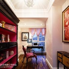 热门面积115平别墅书房美式装修图片欣赏