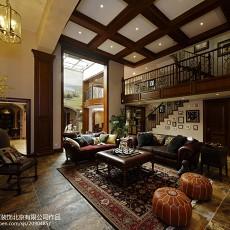 2018精选面积130平别墅客厅美式装修效果图片