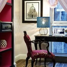 热门142平米美式别墅书房装修实景图片欣赏