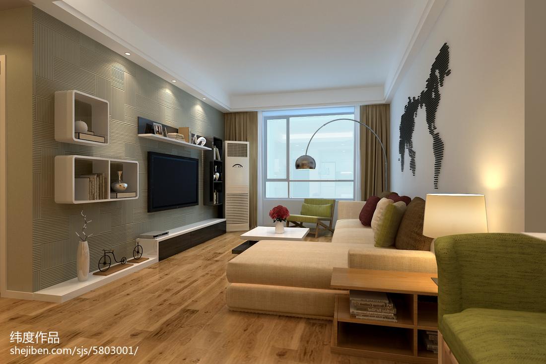 清新温馨的简约风格装修客厅图片