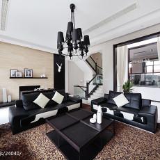 热门面积138平别墅客厅现代装修设计效果图片欣赏