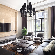 面积141平别墅客厅现代实景图片欣赏