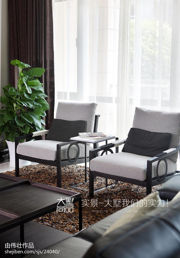 热门面积133平别墅客厅现代装修欣赏图片大全