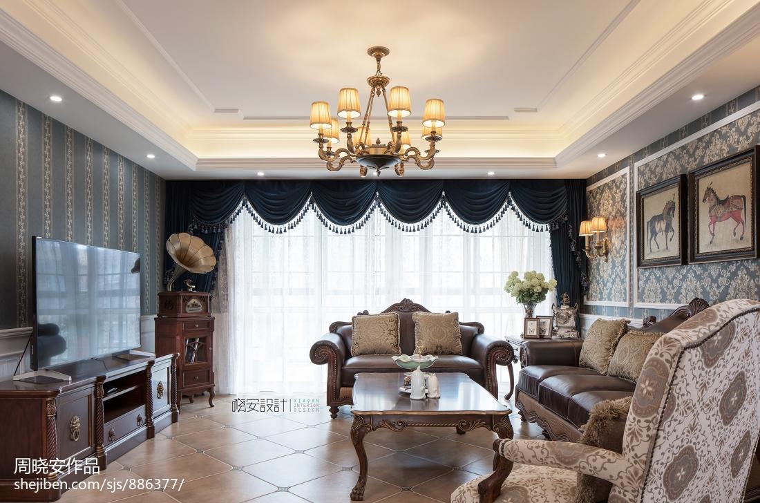 简洁83平美式复式客厅图片欣赏