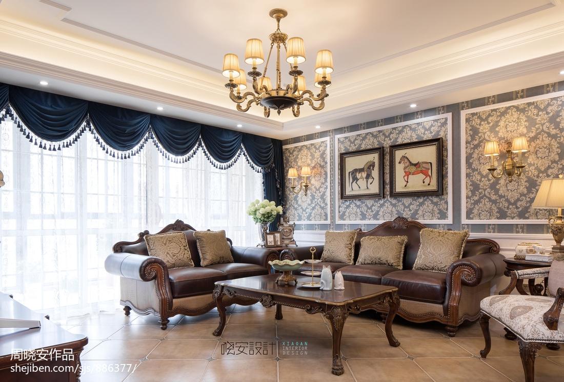 精致58平美式复式客厅装饰图