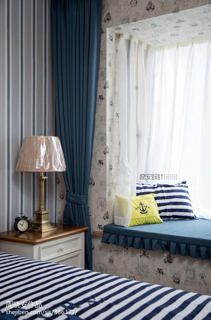 优雅83平美式复式卧室布置图