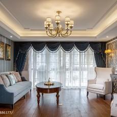 浪漫54平美式复式客厅实景图片