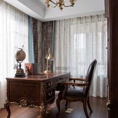 温馨83平美式复式书房装饰图片