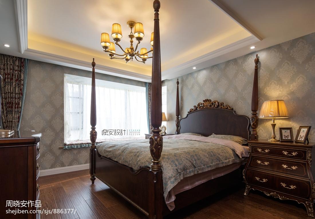 浪漫56平美式复式卧室效果图片大全