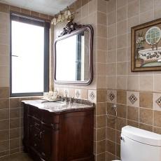简洁45平美式复式卫生间装修案例