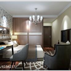 精美面积102平现代三居卧室欣赏图